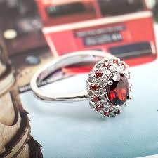 ruby sterling rings images Red ruby sterling silver rings elegant silver indian rings big jpg