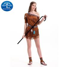 Egyptian Halloween Costume Manluyunxiao Women Egyptian Primitive Indigenous Costume