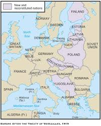 The Map Of Europe by The Treaty Of Versailles Was One Of The Peace Treaties At The End