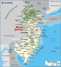 map of nj map of new jersey large color map