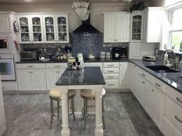 Kitchen Maid Cabinets Blue And White Kitchen Cambria Quartz Countertop Parys Kraft Maid