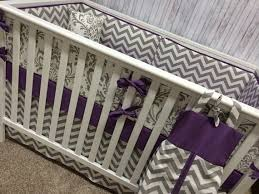 Mini Crib Sets Crib Bedding Bumperless Crib Sheet And Crib Skirt With Border