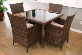Wicker Patio Dining Sets Maui 5 Piece All Weather Wicker Patio Dining Set U2013 Creative Island