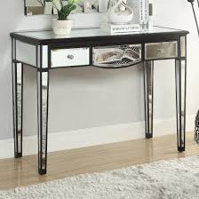 Mirrored Accent Table Table Fascinating Accent Tables Black Console Table With Mirror