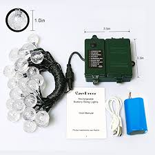 automatic outdoor christmas lights 18650 rechargeable battery included easydecor globe battery
