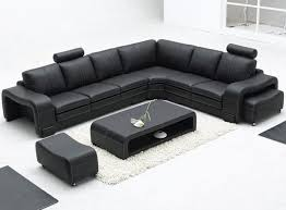 Modern Leather Sofa Modern Black Leather Sofa Living Room Windigoturbines Black