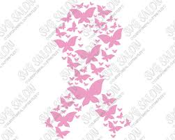 butterfly pattern breast cancer ribbon custom diy iron on vinyl