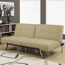 couch taupe alfie click clack sofa bed in taupe shop condo sized furniture