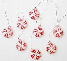 candy ornaments package of 32 artificial mini peppermint candy