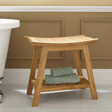 Bathroom Stools With Storage Bathroom Design And Decoration Using Rectangular Solid Oak Teak
