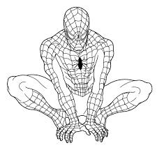 coloring nice spiderman print impressive spider man