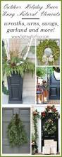 outdoor holiday decor with natural elements setting for four