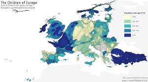 Show Me A Map Of Europe by Growing Old European Population Pyramids Views Of The World