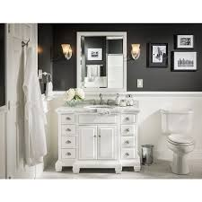 45 Bathroom Vanity by Shop Allen Roth Vanover White Undermount Single Sink Bathroom