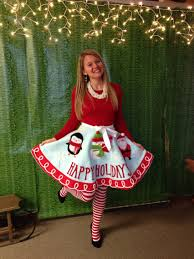 Black Tree Skirts Ugly Holiday Sweater Party Idea Make A Tree Skirt Into A Skirt
