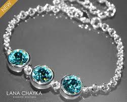 swarovski silver crystal bracelet images Light turquoise crystal bracelet blue teal bridesmaid bracelet jpg