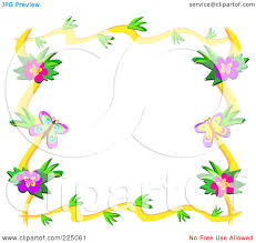 royalty free rf clipart illustration of a leafy floral frame