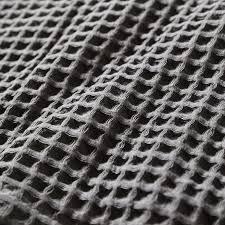 home republic supersoft turkish waffle blanket slate grey