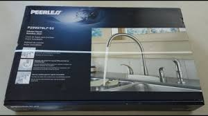 peerless p299578lf ss stainless steel two handle kitchen faucet