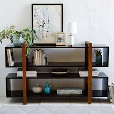 Staggered Bookshelves by Addison Staggered Low Bookcase West Elm