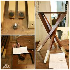 Diy Desk Legs Diy Gold Dipped Furniture Legs Diy Show Diy Decorating And