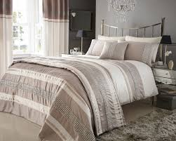 metallic detail plated double bed duvet quilt cover bedding set