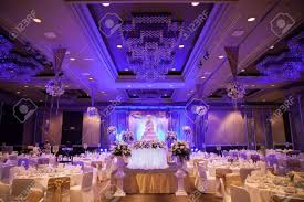 Banquet Table Marriage Celebration With Cake Banquet Table Flowers And