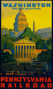 Washington travel and tourism images Vintage travel posters that lured tourists to washington d c jpg