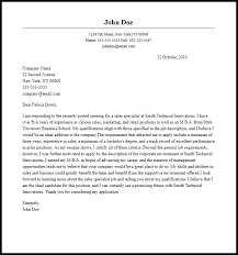 cover letter sles professional sales specialist cover letter sle writing guide