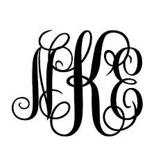 3 letter monogram monogram 3 letter v1 single color transfer type decal stickerdad