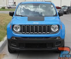 jeep renegade trailhawk blue renegade hood 2014 2018 jeep renegade center hood blackout