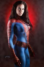 1598 art body painting images spiderman