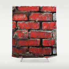 masculine bathroom shower curtains shower curtain looks like brick wall google search bathrooms