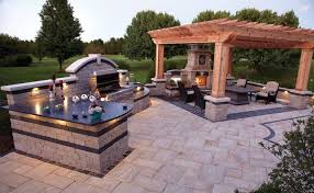 amazing ideas outdoor kitchen with fireplace excellent large