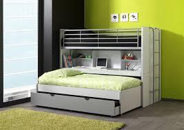 lit superposé avec bureau lits enfant superposés combiné avec tiroir lit blanc gris carrie