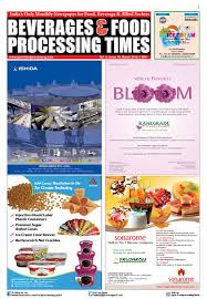 beverages u0026 food processing times march 2016 by advance info