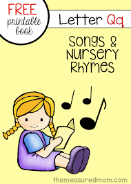 free book of rhymes and songs for letter q the measured mom