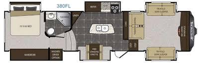 5th Wheel Camper Floor Plans New 2016 Keystone Rv Avalanche 380fl Fifth Wheel At Pontiac Rv