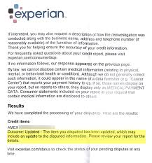 Dispute Letter For Experian update credit score recovery after disputes with all 3 bureaus