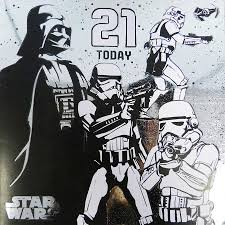 star wars birthday greetings star wars age 21 birthday card 21st cardspark