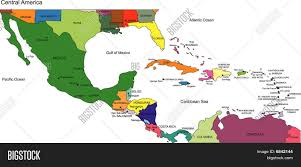 Central America And Caribbean Blank Map by Map Of Central America And The Caribbean Maps Of The Americas