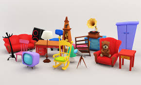 Living Room Furniture Packages Cartoon Furniture Package 1 3d Asset Cgtrader