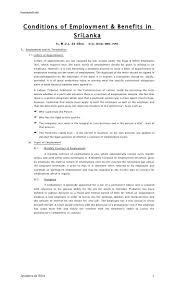 Employee Notice Of Termination by Conditions Of Employment U0026 Benefits By Jayadeva De Silva