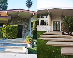 midcentury modern driveway mid century curb appeal ground one