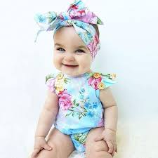 headband for babies floral summer backcross baby romper with headband baby girl