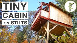 House On Pilings by Beautiful Treehouse Style Cabins On Stilts Full Tour Youtube