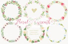 watercolor hand painted cliparts by designloverstudio