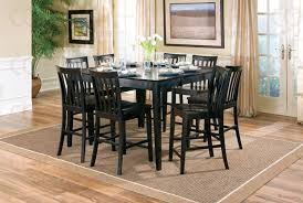 coaster table and chairs piece counter height table set in rich black finish by coaster