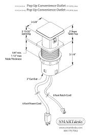 Standard Desk Length by Cable Management Box Computer Cable Connection Management Box