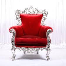 red velvet armchair art style plush red velvet sofa club chair for